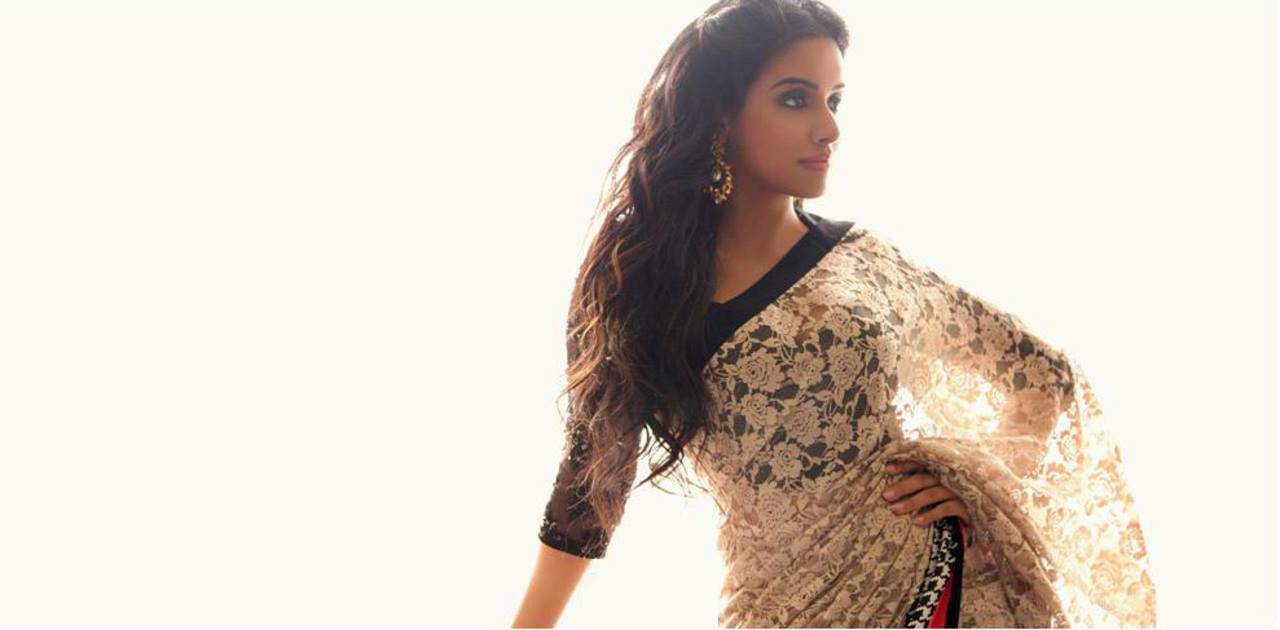 Hindi actress Asin wallpaper in saree