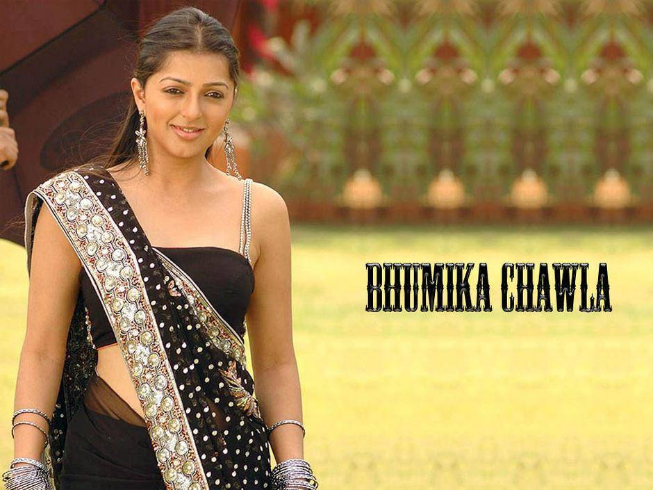 Bhumika-Chawla-black-saree-Hot-Wallpaper