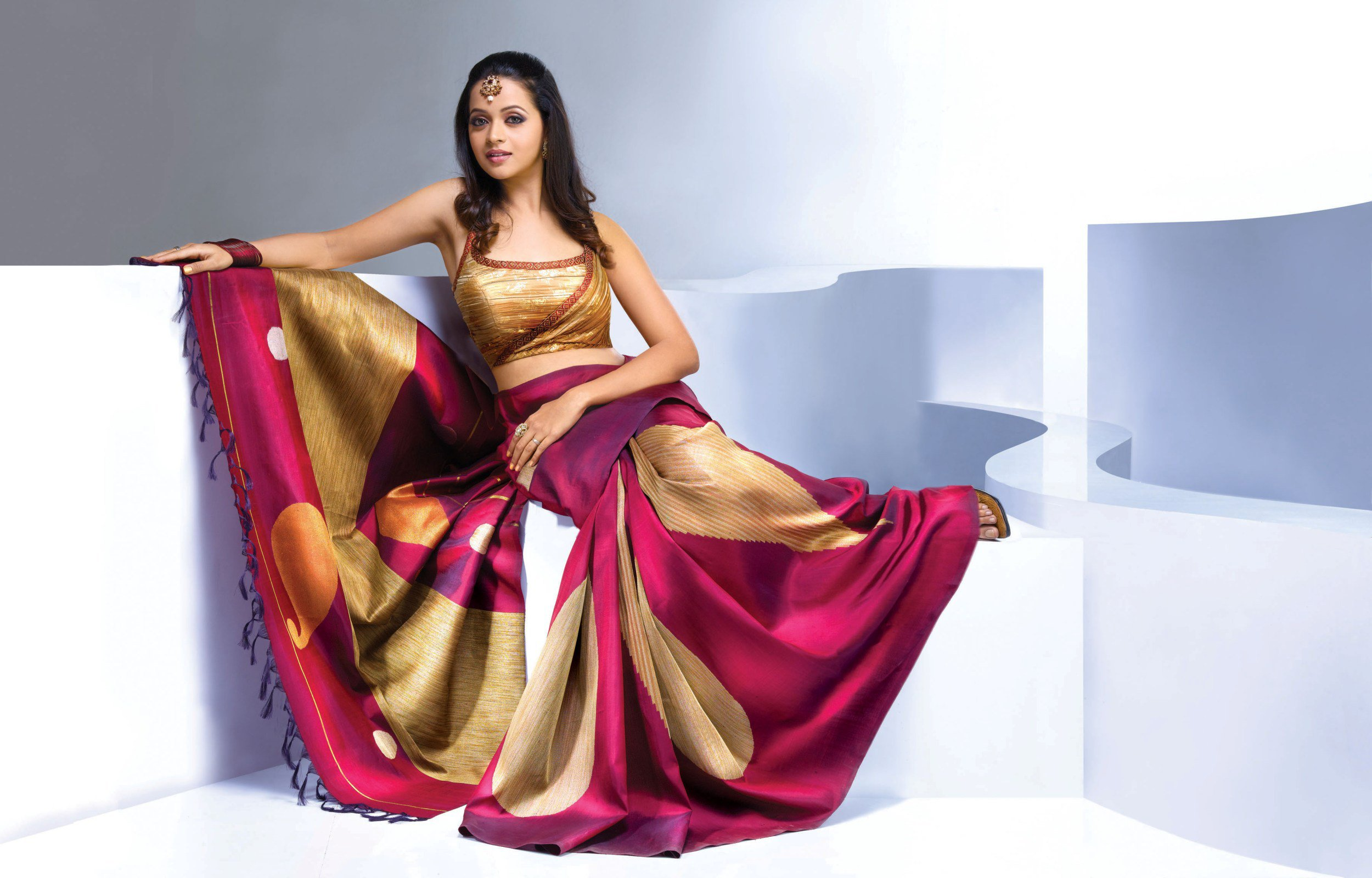Gorgeous Bhavana in Saree