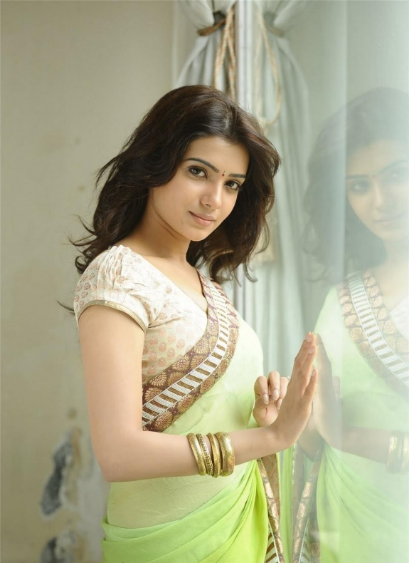 Tamil actress samantha in saree